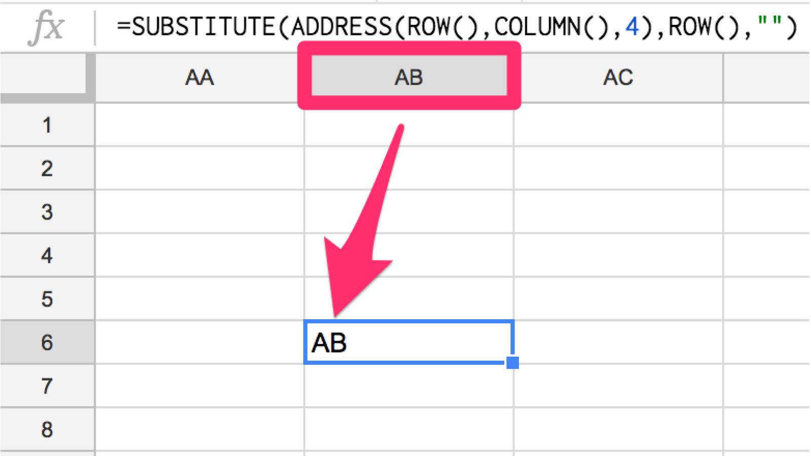 【コピペでOK】スプレッドシートの関数で『列のアルファベット』を取得する方法