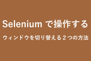 selenium-change-window