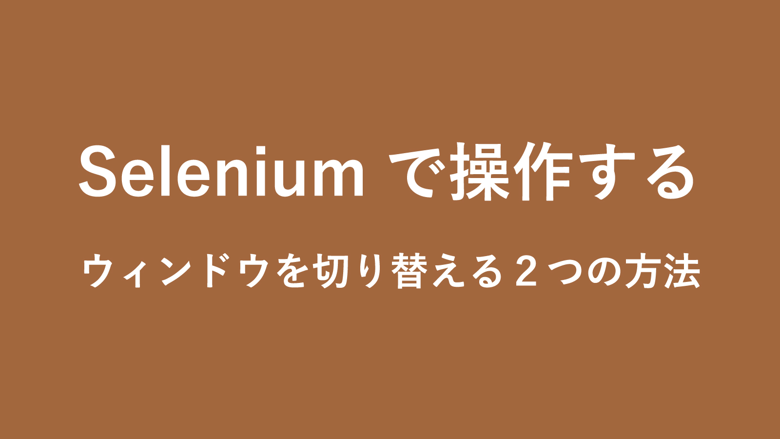 selenium-change-window